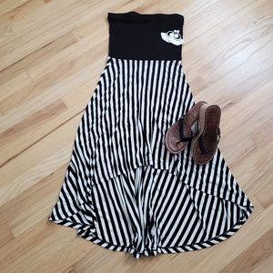 High low tube dress